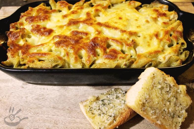 Pesto Chicken Pasta Bake